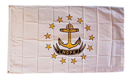 Rhode Island - 3' x 5' Dura-PolyTM Polyester State Flag by F