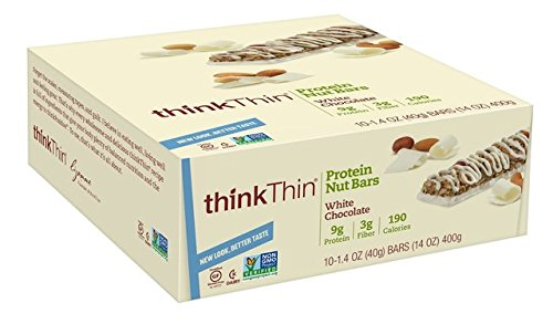 thinkThin Protein Nut Bar, White Chocolate, 1.41-Ounce Bars ( Family Pack of 3) thinkThin-wb by thinkThin