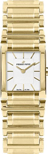 Pierre Petit Women's P-794D Serie Laval Yellow-Gold PVD Square Case Bracelet Watch