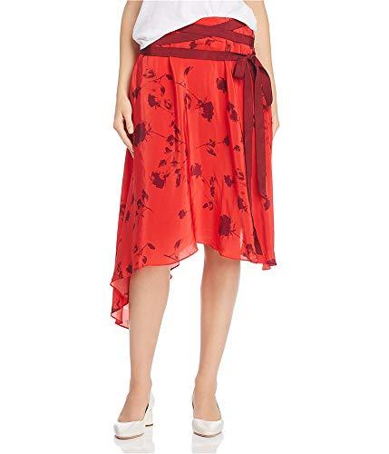 Preen Line Womens Yolanda Asymmetrical Skirt, Red, Small