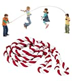 Big Candy Stripe Jump Rope with Braided Handles, 12 Feet 4 Inches Long For Sale