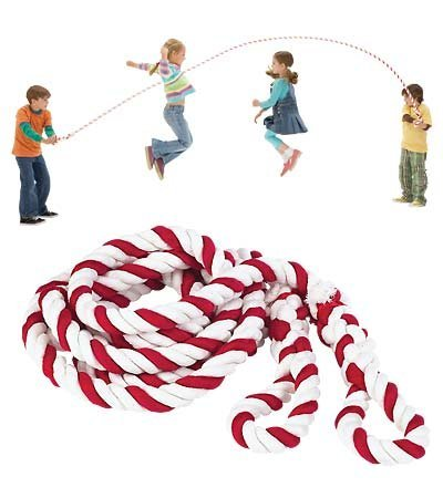 Big Candy Stripe Jump Rope with Braided Handles, 12 Feet 4 Inches Long