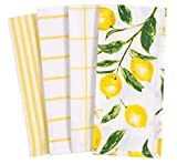 KAF Home Pantry Lemons All Over Kitchen Dish Towel Set of 4, 100-Percent Cotton, 18 x 28-inch: more info