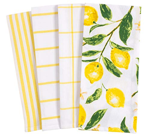 - KAF Home Pantry Lemons All Over Kitchen Dish Towel Set of 4, 100-Percent Cotton, 18 x 28-inch