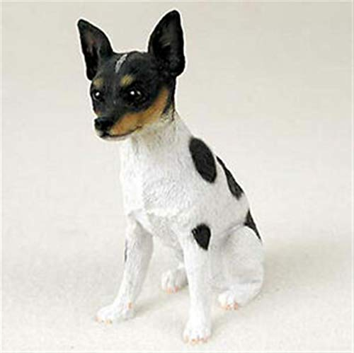 Ky & Co YesKela Rat Terrier Figurine Hand Painted Collectible Statue - Rat Figurine Terrier