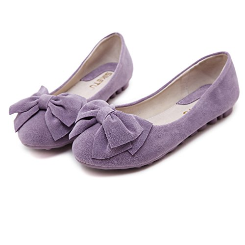 Women's Walking Flats Design Purple Classic Plain Comfort Ballerina Solid Shoes rprYqwA