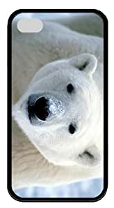 funny cover Polar Bear TPU Black Case for iphone 4/4S