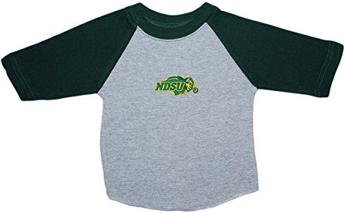 North Dakota State University NDSU Bison Baby and Toddler 2-Tone Raglan Baseball Shirt