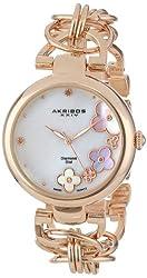 Akribos XXIV Women's AK645RG Lady Diamond Quartz Rose Gold-Tone Bracelet Watch