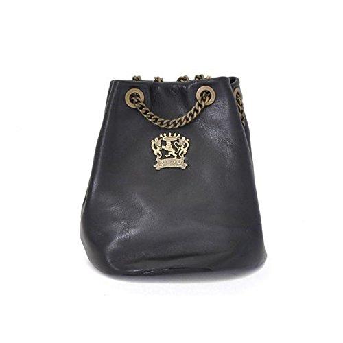 Pratesi Pienza bolsa de cuero - B159 Bruce (Coñac) Negro