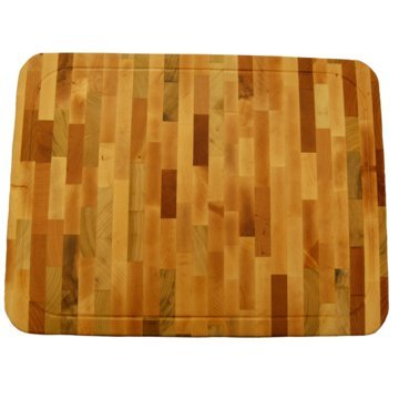 "Grain Large End (Large End Grain Wood Cutting Board 20""x15""x1.5"" with 3 Piece Treatment Kit/Cheese Board/Charcuterie Board/Party Platter/Chopping Board ~OX CHOP)"