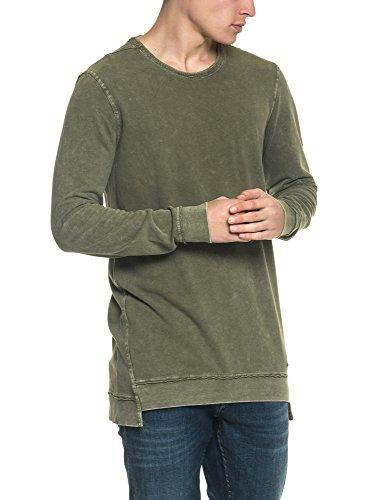 Garcia Jeans Men's Men's Olive Sweatshirt in Size XL Green by GARCIA JEANS