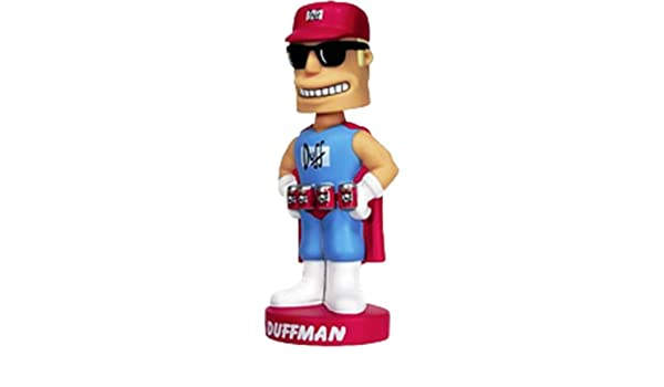 Funko Simpsons Wacky Wobbler Bobble Head Duffman by FunKo: Amazon ...
