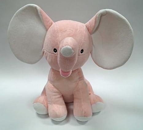 """elefante de peluche (""""Pinkie individualmente con nombre bordado, regalos para nacimiento"""