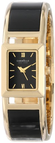 Ladies Bulova Two Tone Bangle Watch - Caravelle New York Women's 44L149 Bangle Watch