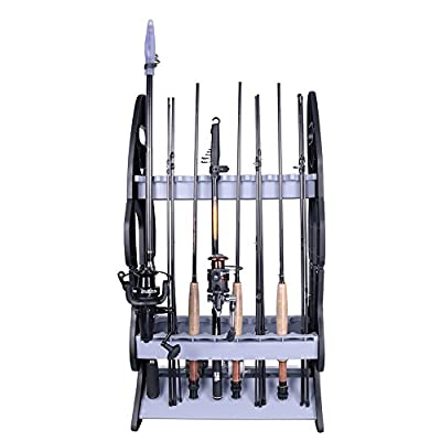 Croch Fishing Rod Holder Storage Rod Rack Fishing Pole Stand Garage Organizer Holds Any Type of Rod or Hiking Sticks Keep It Steady