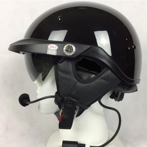 Bell Pit Boss With J&M 284 Headset / Intercom Black - Helmet 284 Headsets