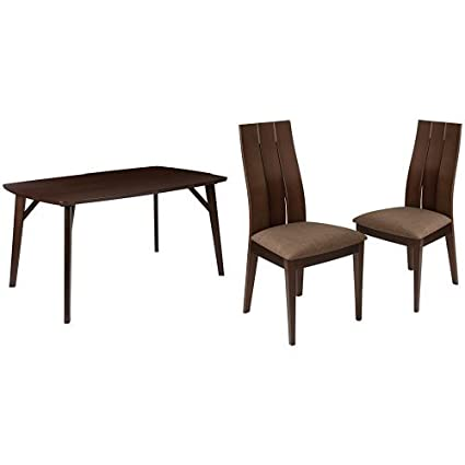 Incroyable Flash Furniture Dearborn 5 Piece Espresso Wood Dining Table Set With Wide  Slat Back Wood Dining
