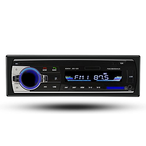 Single Din Car Stereo with USB, AUX and SD Card Slot, Wireless Remote Control Included by UnPlug