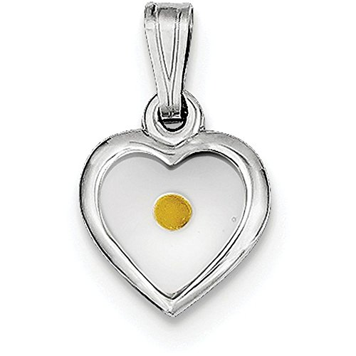 Finejewelers Sterling Silver Small Heart with Mustard Seed Pendant Necklace Chain Included