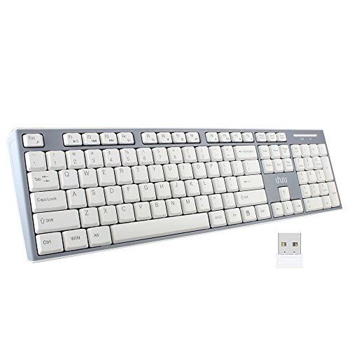 UHURU Wireless Keyboard, 2.4GHz Keyboard for Smart TV, Noteook, Laptop, Surface Pro, Windows 10 / 8 / 7 / Vista / XP