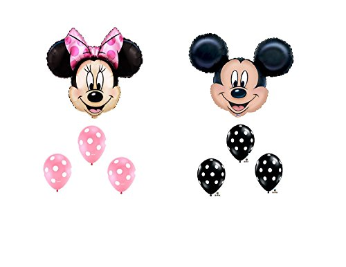 MAD ABOUT MINNIE MOUSE AND MICKEY MOUSE Head