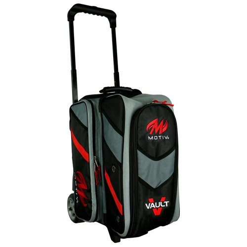 MOTIV Vault 2 ball roller Bowling Bag Black/Grey/Red