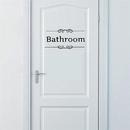 ufengke Semplice Bathroom Adesivi Murali, Bagno Toilette Adesivi da Parete Removibili/Stickers Murali/Decorazione Murale Ufingo UF-WLZ289B