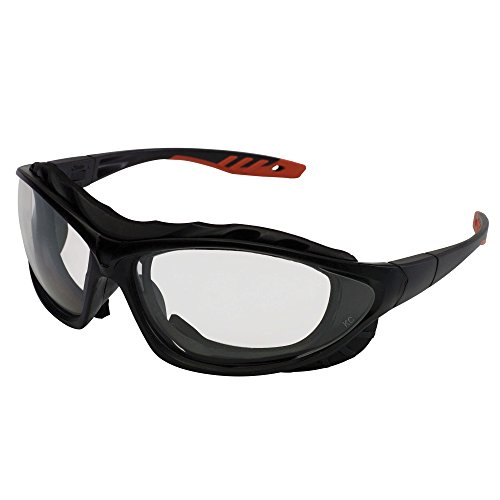 Jackson Safety V50 Epic Safety Eyewear (33345), Clear Anti-Fog Lens with Interchangeable Temples and Head Strap, Black & Red Frame, 12 Pairs / Case (Best Lenses For Red Epic)