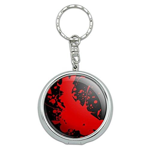 Blood Splatter Classic Horror Movie Halloween Portable Travel Size Pocket Purse Ashtray Keychain with Cigarette Holder