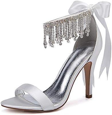 Lianyunneiyi Rhinestone Crystal Bride Wedding Shoes Fashion Shoes