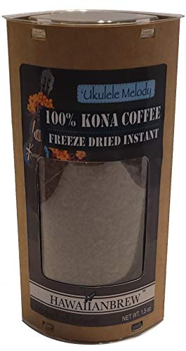 (100% Kona Coffee Freeze Dried Instant - 1.5oz - Ukulele Melody )