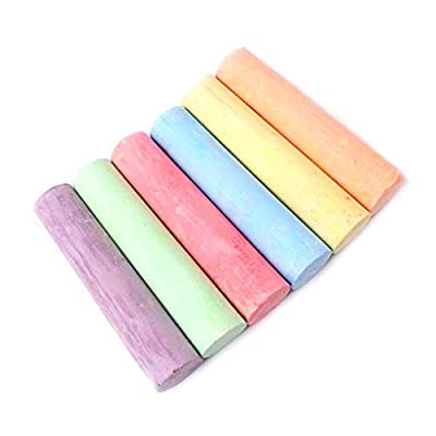 Dermanony????6 PCS Sidewalk Chalk for Kids Toddlers Outdoor Side Walk Outside Driveway Easter: Clothing