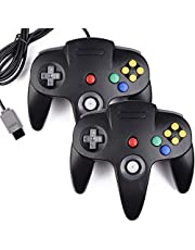 2 Pack n64 Controller, kiwitatá Classic N64 Wired Game Pad Upgraded Joystick Controller for N64 Video Game Console
