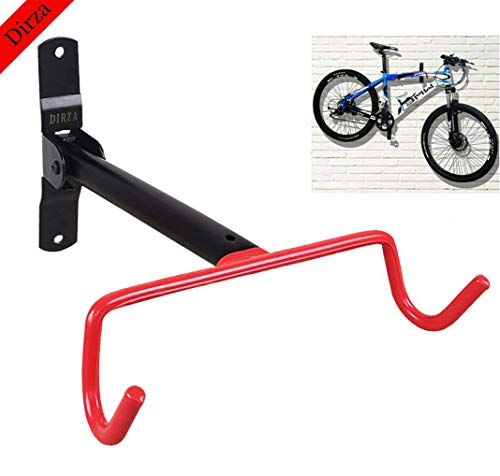 Dirza Wall Mount Bike Hanger Flip Up Garage Bicycle Bike Rack Storage System for Garage Shed with Screws 1 Pack ()