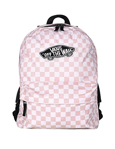 Vans Realm Backpack (Chalk Pink Checkerboard) by Vans