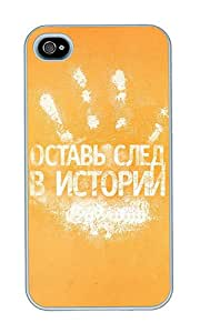 iPhone 4 Case,iPhone 4S Case,VUTTOO iPhone 4 Cover With Photo: Handprint For Apple iPhone 4/4S - PC White Hard Case