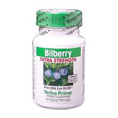 Bilberry Extra Strength, 50 Caps by Yerba Prima (Pack of 3)