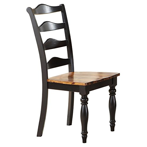 Winners Only Westin Ladder Back Side Chair - Set of 2 - Acacia Ebony
