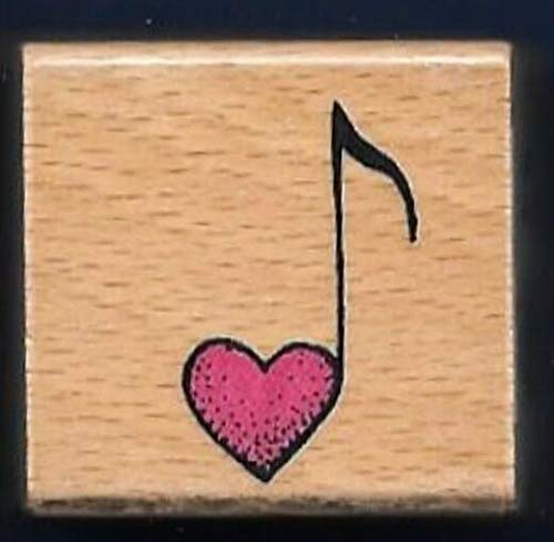 Rubber Stamp Frames Music Note Heart Love Note Valentine New Band Card Rubber Stamp