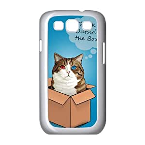Samsung Galaxy S3 9300 Cell Phone Case White cat think outside VFR Personalized Phone Cases Clear