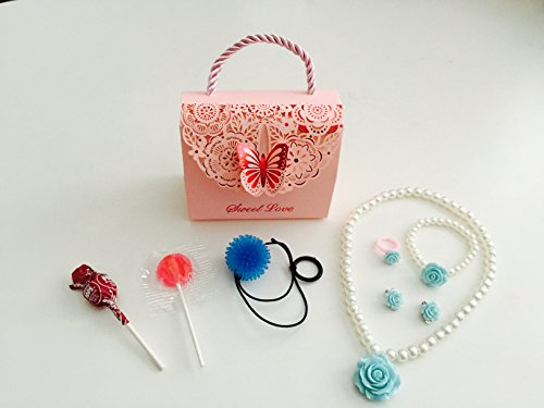 8x Pack Girls Goody Bags; Pre Made & Filled with Toys, Filled Goody Bag / Loot Bag