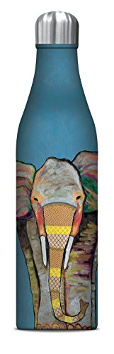 Studio Oh! 25 oz. Insulated Stainless Steel Water Bottle Available in 8 Different Designs, Eli Halpin Majestic (Majestic Elephant)