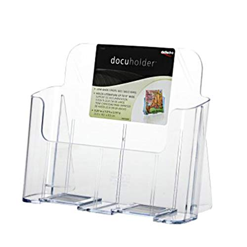 - LYXPUZI Literature Holder A4 - Clear PS Brochure Display Stand Rack - Desktop and Wall Mounted Holder for Leaflets, Flyers, Magazines