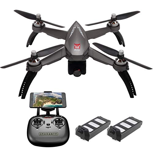 - MJX B5W Bugs 5W GPS RC Drone with 1080p HD Camera 5G WiFi FPV Live Video Quadcopter with Brushless Motor, Follow Me, Altitude Hold, Long Control Distance, Waypoints Fly, 2 Batteries, Gray