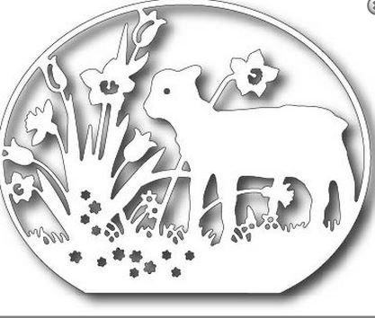 Tutti Designs Easter Lamb Cutting Die TUTT263 -