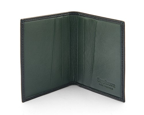 Slim SAGEBROWN Soft Case Card Credit Slim Green with SAGEBROWN Black HBBaEFwq