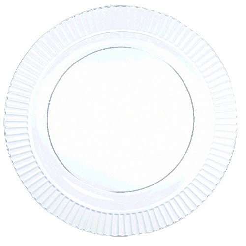 """Amscan Round Premium Plastic Plates, 7 1/2"""", Clear"""
