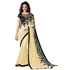 Navabi Export Women's Kanchipuram Georgette Saree With Un-Stitched Blouse Piece
