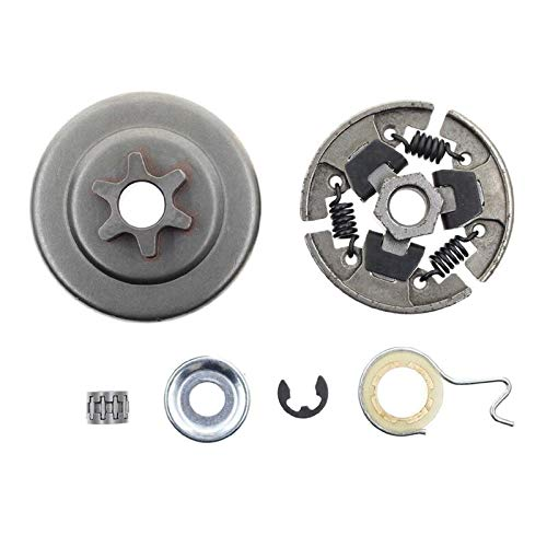Sprocket Clutch 3/8 Inch For Stihl 017 018 021 023 025 Ms170 Ms180 Ms210 Ms230 Ms250 Chainsaw With Washer E-Clip Kit Replace 1